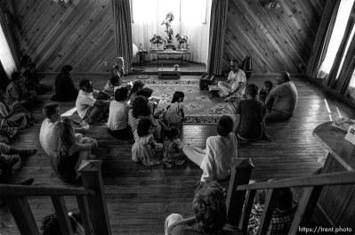 Hare Krishna religious meeting.
