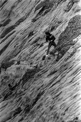 Rescue of climber from cliff at Fort Funston.