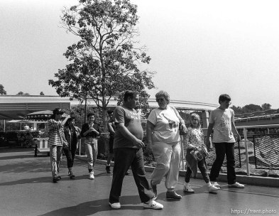 """The Duke"" walks by at Disneyland."