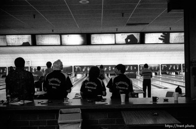 at Dublin Bowl on league night.