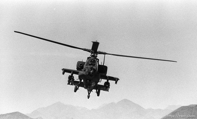 Apache helipcopters at McDonnell Douglas plant.