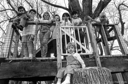 Kids and their treehouse.