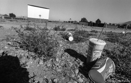 Trash at Timp Drive-In theater.