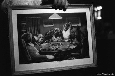 Dogs playing poker painting at Nana's house.