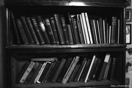 Bookcase in Peter's room at Nana's house.