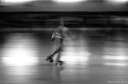 People skating at Classic Rollerskating rink.