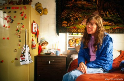 lady who lived at the Hideaway Motel, 1989.