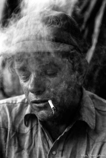Casey smoking