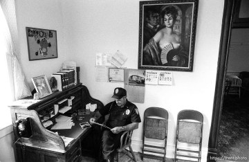 Eureka Police Chief Fullmer in his office