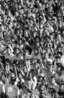 Fans at BYU vs. Miami football.