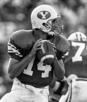 Ty Detmer at BYU vs. Miami football.