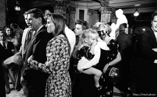 Karl Snow and family on election night after losing the election to Bill Orton