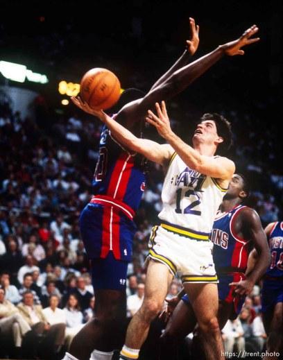 John Stockton at Jazz vs. Pistons