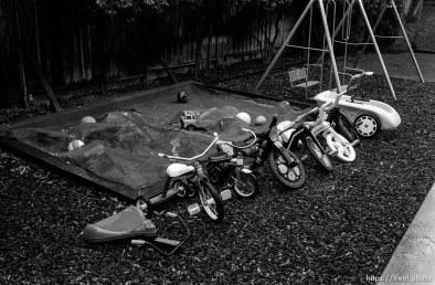 Bikes and sandbox