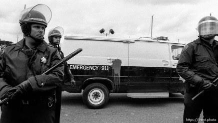 Cops at Gulf War celebration parade.