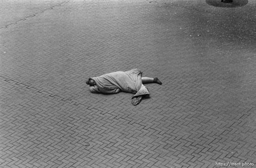 Bum sleeping on ground