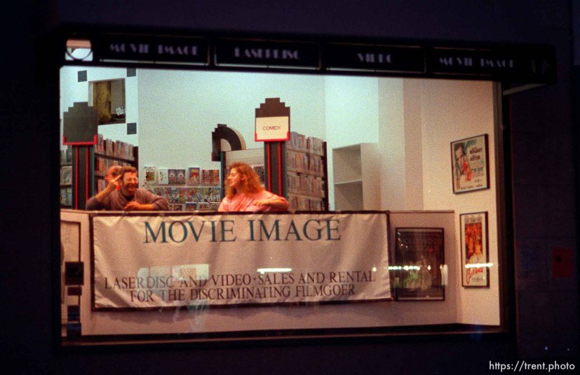 "Man in ""Movie Image"" video store flips me off during riot and protests."