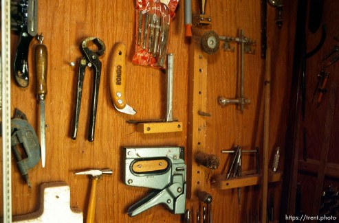 Tools in Rondo's workshop.