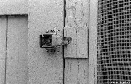 Back door latch at Robinson house