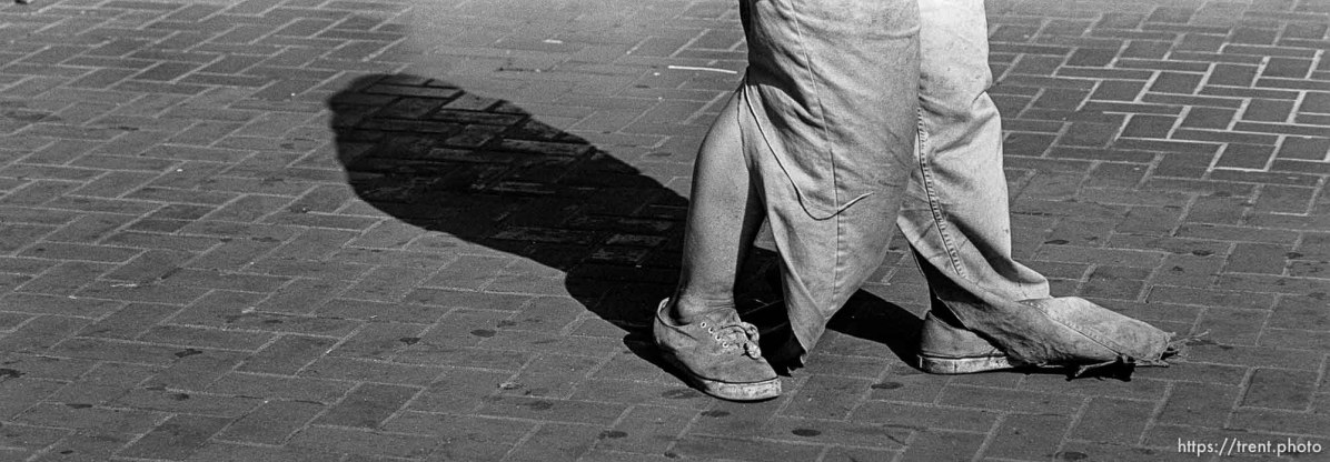 Homeless man's feet