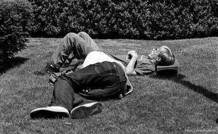 Anthony Quayle sleeps next to homeless man