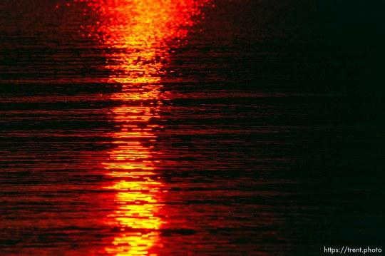 Sunset reflections on lake