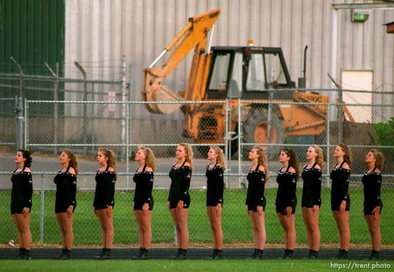 Drill Team and Tractor