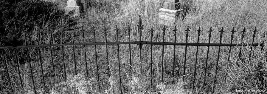 Iron fence in Eureka graveyard