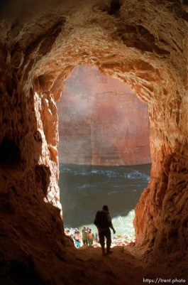 Cave. Grand Canyon flood trip.