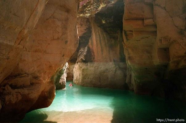 Jack Bozarth swimming. Grand Canyon flood trip.