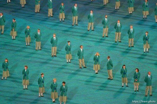 Volunteer ushers at the Opening Ceremony at the 1996 Summer Olympic Games