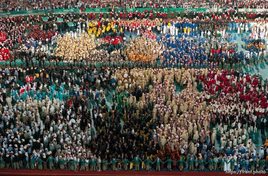 Athletes at the Opening Ceremony at the 1996 Summer Olympic Games