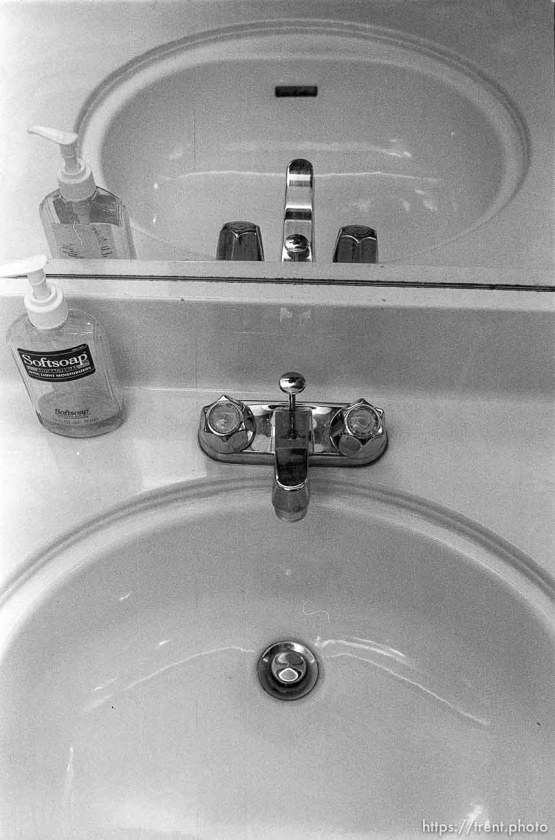 Sink in the Nelson home.