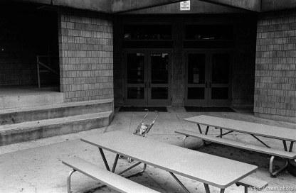 N in stroller at Walt Disney Elementary