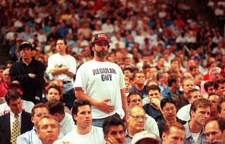 """""""Regular Guy"""" t-shirt at Utah vs Stanford, NCAA Tournament."""