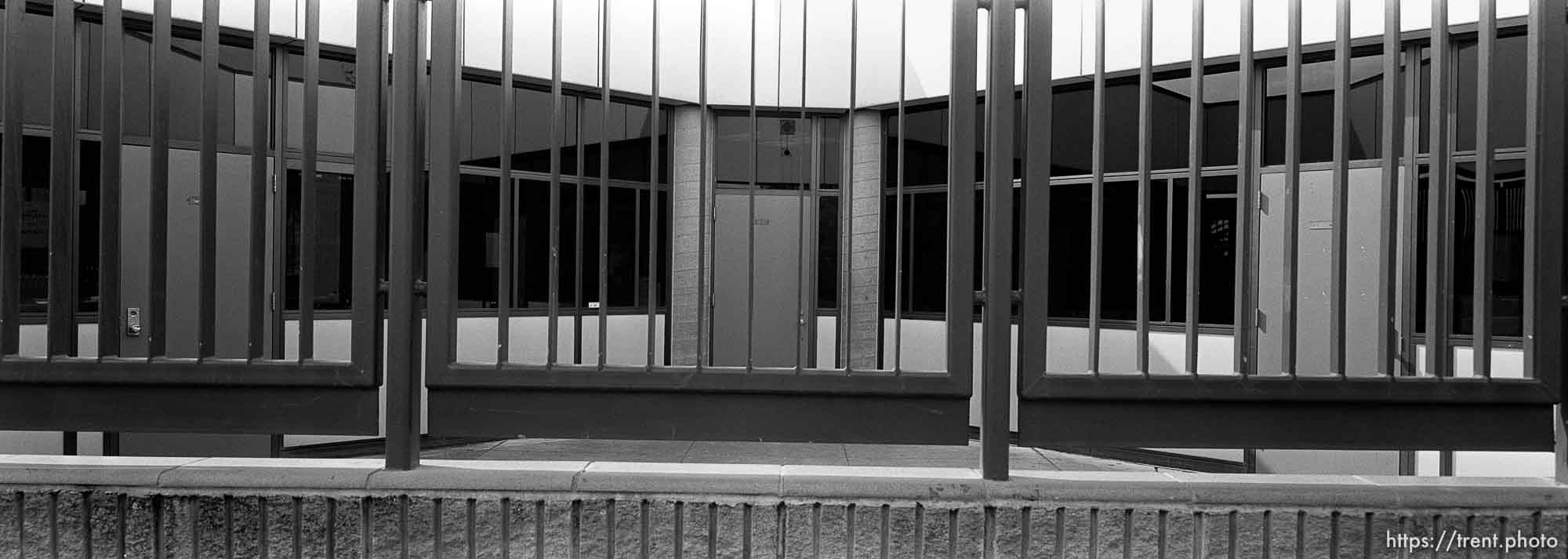 classrooms behind bars at Pine Valley Intermediate