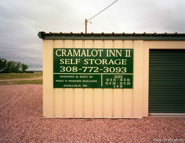 """Cramalot Inn"" self storage sign"