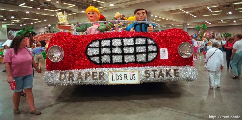 Draper Stake float at the preview of floats for the Days of '47 Parade.