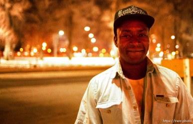 Curtis Wilson, homeless in Salt Lake City.