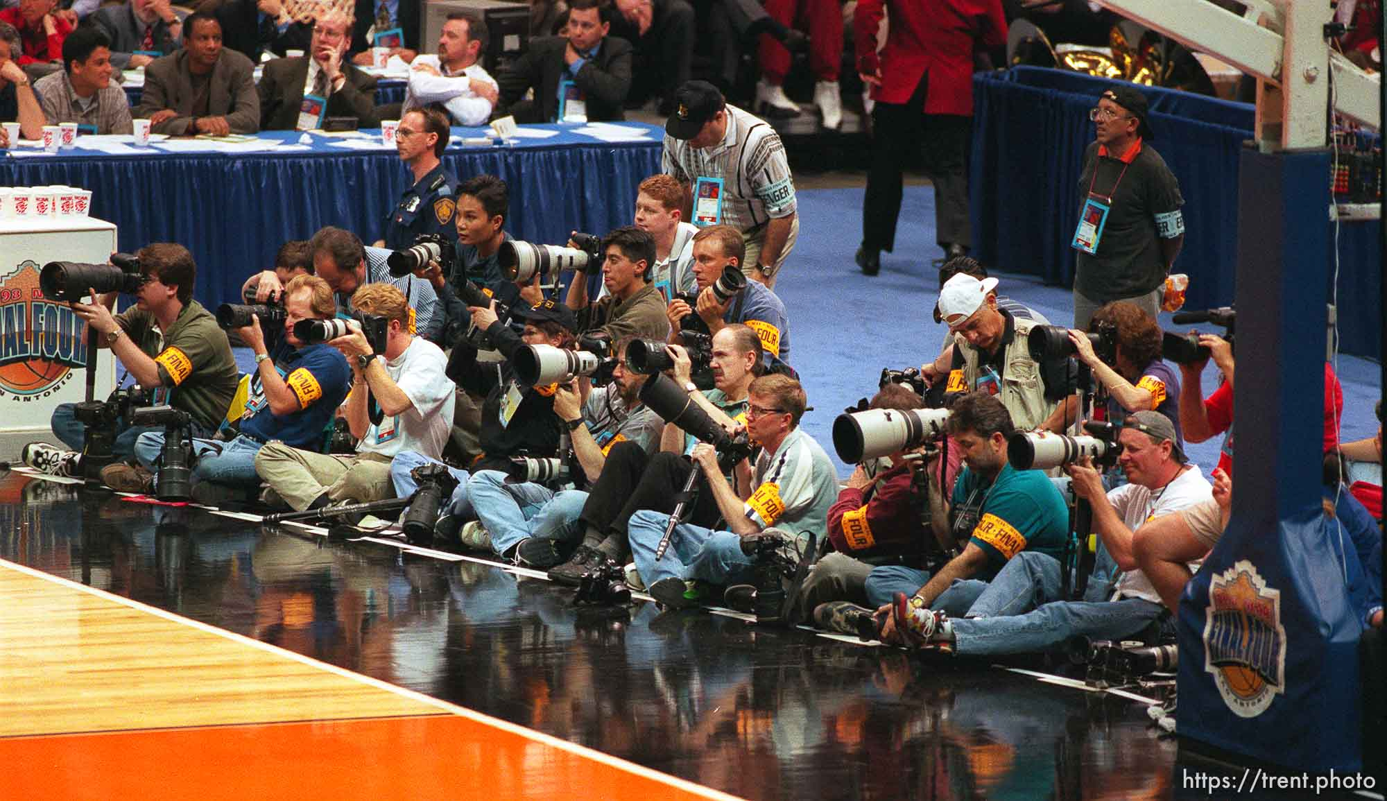 Still photographers at the Final Four.