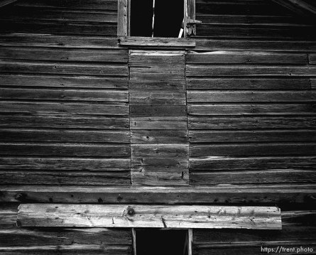 Side of a barn at Aunt Bea's farm.