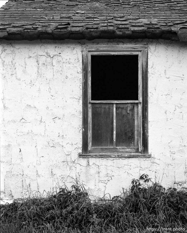 Window on house at Aunt Bea's farm.