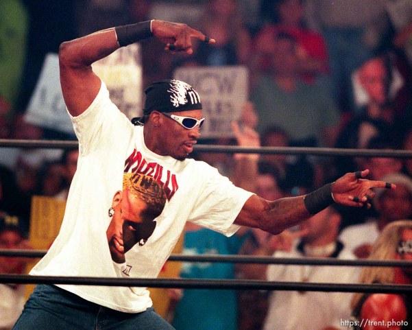 Dennis Rodman at WCW's Bash at the Beach.