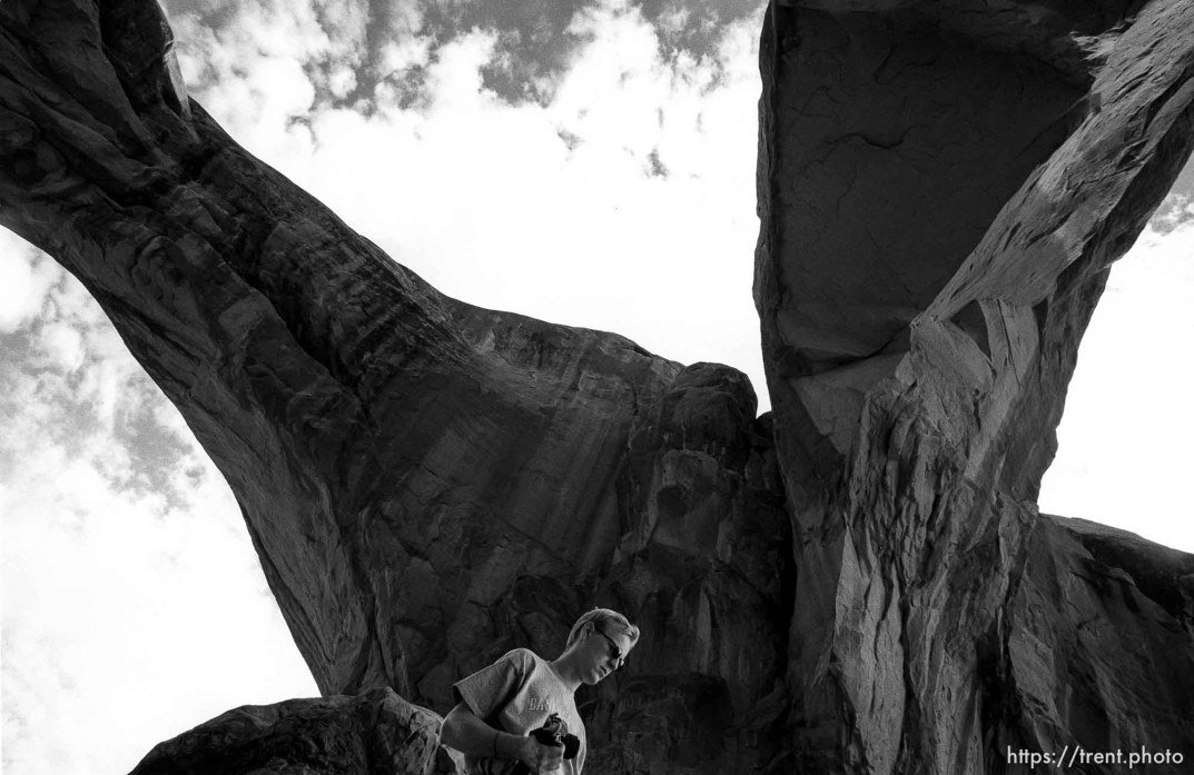 Double Arch, at Arches National Park.