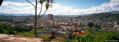 View of Tegucigalpa from a hill.