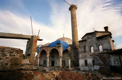 Destroyed mosque in the old town.