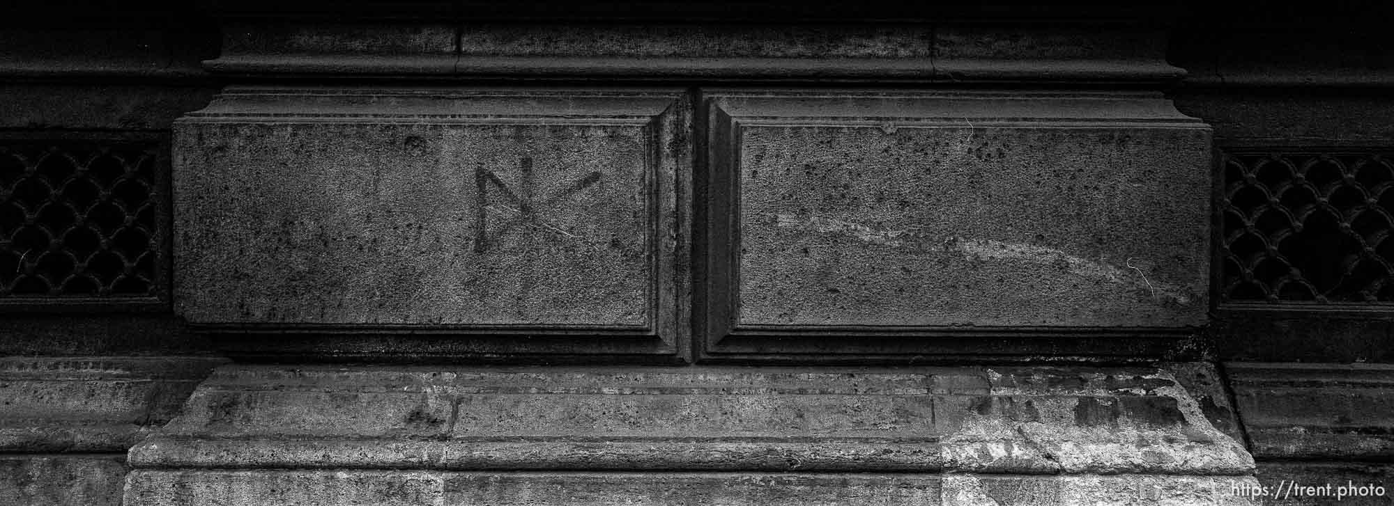 Dead Kennedys graffiti on building.