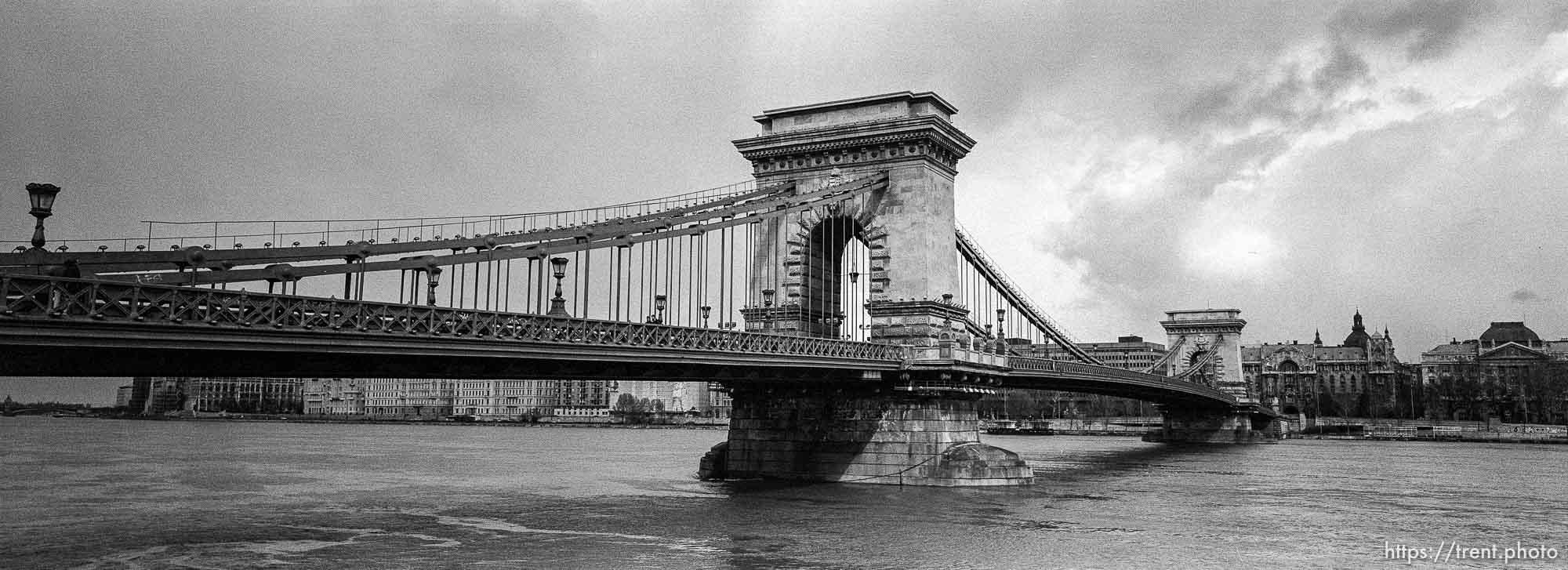 The Szechenyi bridge.