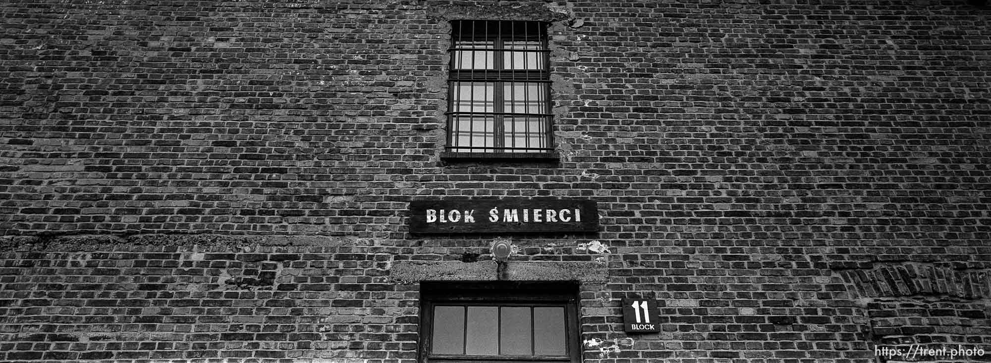 the Death Block (11) at the Auschwitz Concentration Camp.