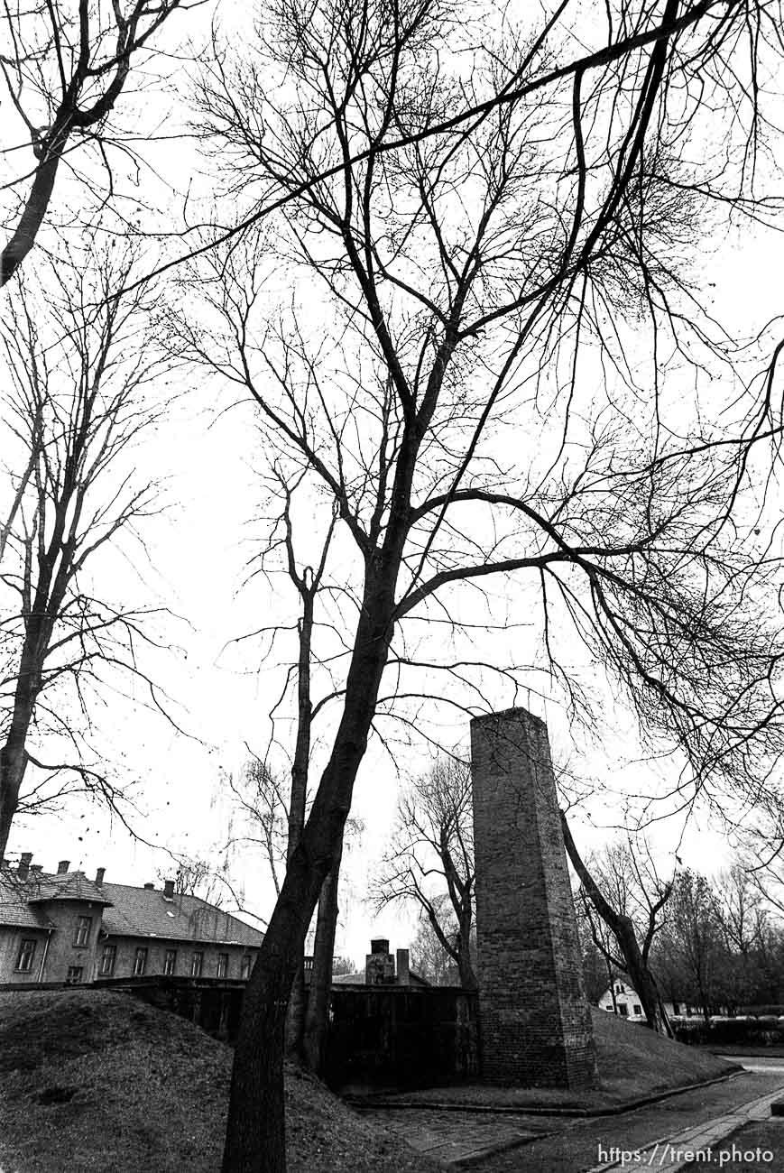 Crematorium at the Auschwitz Concentration Camp.